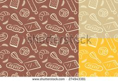 #design #graphic #vector #bakery #background #bread #pattern