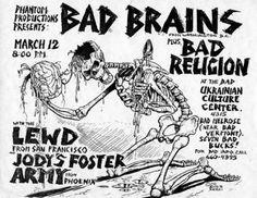 Bad Brains, Bad Religion, JFA punk hardcore flyer by Shawn Kerri Punk Poster, Retro Poster, Gig Poster, Poster Vintage, Poster Wall, Rock Posters, Band Posters, Music Posters, Event Posters