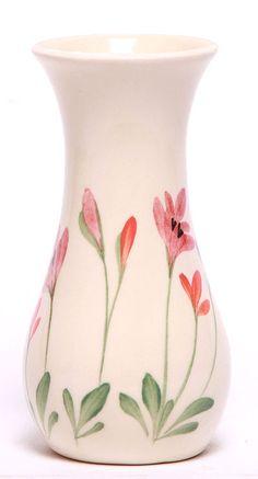 Ceramic Bouquet Vase - Red Poppy