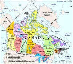 Canada Map I have only been to 2 provinces: Ontario and Quebec. Calgary Canada, Canada Eh, Visit Canada, Toronto Canada Map, Ottawa, Capital Do Canada, Trinidad Y Tobago, Discover Canada, North America Map
