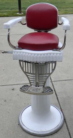 Koken Child's Porcelain Barber Chair