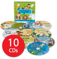 Read by a host of celebrities including Justin Fletcher, David Tennant and Stephen Mangan, this audiobook collection contains brilliant stories children will be happy to listen to time and time again.