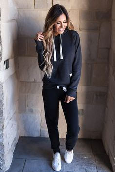 Charcoal Hooded Pullover - Dottie Couture Boutique