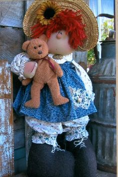 Little Miss Callie 22 inch cloth doll pattern $10.95 plus shipping