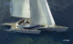 Prout 138 Worlds Largest Sailing Trimaran Cool Boats, Yacht Boat, Yacht Design, Sail Away, Tonne, Boat Building, Catamaran, New Builds, Sailing Ships