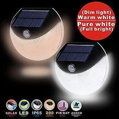 ASSEM® Solar Powered Wireless Security Light Weatherproof Outdoor Motion Sensor