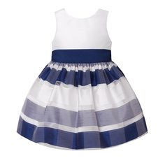 Stripe Organza Dress (12-24m)