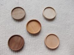 5 pc unfinished mix wooden brooch/pendant base by MagicWoodenJewel, $21.00