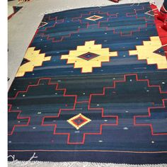 "Navajo Inspired, Line of the Spirit 7'5"" x 10'2"""