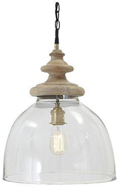 Pendant Lights Farica Transparent Glass Pendant Light by Signature Design by Ashley at Becker Furniture World Wood Pendant Light, Led Pendant Lights, Mini Pendant, Pendant Lighting, Round Pendant, Chandeliers, Light Bulb Wattage, Interior Exterior, Interior Design