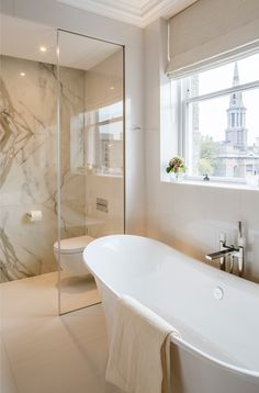Bathroom - Luxury residence of our Chester Terrace project, Regents Park, London completed by SHH Architects. Small Luxury Bathrooms, Bathroom Design Luxury, Bathroom Design Small, Amazing Bathrooms, Modern Bathroom Tile, Bathroom Design Inspiration, Family Bathroom, Bathroom Renovations, Scandinavian Bathroom