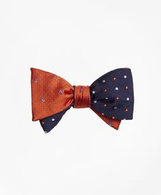 Tossed Golden Fleece® Parquet with Alternating Dot Reversible Bow Tie - Brooks Brothers