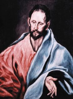 Retrato de Santo James the Less Artist, El Greco 1595