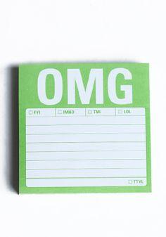 $4 OMG Sticky Notes