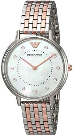 c4cd4fbe3d24 Emporio Armani Women s Dress Two Tone Quartz Watch    Click image to read  more details. Wristwatch