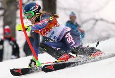 US teen Shiffrin leads 1st run of Olympic slalom