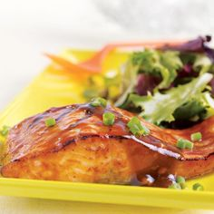 GINGER PLUM SALMON: ~ Prep time: 5 minutes Cook time: 10 minutes Serves: 4