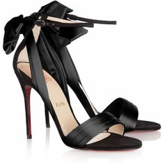 Christian Louboutin Vampanodo 100 satin and suede sandals ($945) ❤ liked on Polyvore