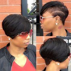 This cut is so clean @elegantmidge and @icutyobarberhair23 ✂️ Team work makes the dream work❤️   #chicagohair #chicagostylist #taperedcut #voiceofhair ========================== Go to VoiceOfHair.com ========================= Find hairstyles and hair tips! =========================