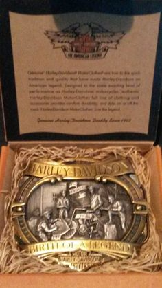 0f9f1259bc5a GENUINE HARLEY DAVIDSON DECADE BELT BUCKLE THE 1900 S BIRTH OF A LEGEND  LIMITED Boucle De Ceinture