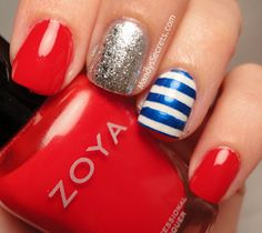 MandysSecrets: NOTD -- Simple & Easy Fourth of July Nails x 2!