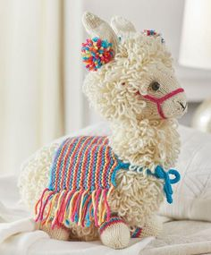 knitting patterns toys It's hard enough to find knit amigurumi patterns, let alone knitted farm animal patterns! This Cute Knit Llama Pattern fits that bill. This adorable, loopy Animal Knitting Patterns, Stuffed Animal Patterns, Amigurumi Patterns, Crochet Patterns, Afghan Patterns, Sewing Patterns, Dress Patterns, Stitch Patterns, Knitted Animals