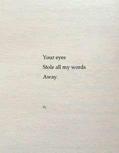 stole all my words
