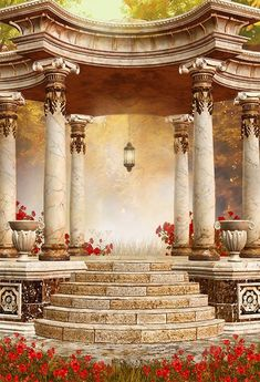 Purchase Red Flowers Garden Greek Columns Pillars Steps Pavilion background wedding backdrop from Felix Honey on OpenSky. Share and compare all Electronics. Studio Background Images, Best Background Images, Theme Background, Pattern Background, Window Photography, Background For Photography, Photography Backdrops, Product Photography, Digital Photography