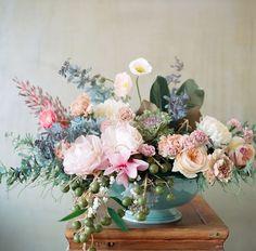 Floral arrangement by Kiana Underwood of Tulipina in San Francisco. Photo by Nathan Underwood (via Tulipina).