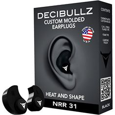 NRR 31 The highest rated custom earplug you can buy The first fully re-moldable custom earplug Easily and quickly molded to your ears using hot water