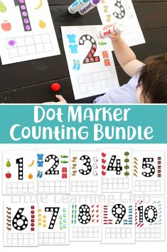 Dot Marker Counting activity for toddlers. Printable activities for preschool. - Parenting Group Board - Dot Marker Counting activity for toddlers. Printable activities for preschool. Activities to help t - Toddlers And Preschoolers, Educational Activities For Preschoolers, Activities For 2 Year Olds, Motor Skills Activities, Number Activities, Counting Activities, Toddler Learning Activities, Craft Activities For Kids, Infant Activities