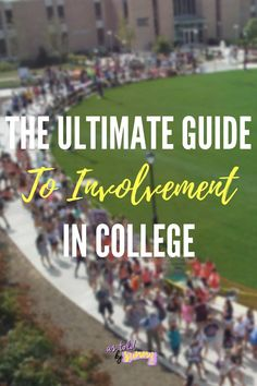 How to get involved in college activities