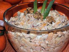 Sałatka serowa z szynką, orzechami i owocami Tortellini, Potato Salad, Cabbage, Grains, Food And Drink, Potatoes, Chicken, Meat, Vegetables
