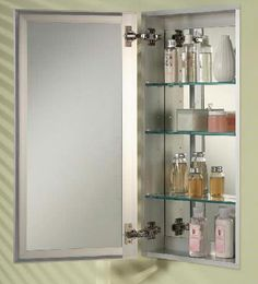 Afina, Broadway Frameless Single Door Medicine Cabinet