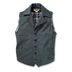 Whipcord Western Vest