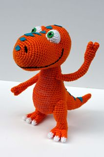 Meet Buddy! He loves learning everything he can about other dinosaurs. This pattern will help you make your own friendly, curious young T-Rex inspired by the PBS show Dinosaur Train, perfect for any dinosaur enthusiast.