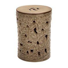 Aspire 40801 Kicho Ceramic Garden Stool Brown NEW #Aspire