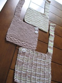 knit bib pattern - Google Search