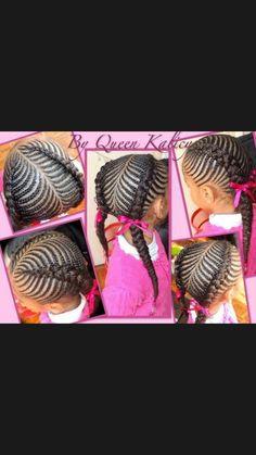 Cornrows French braids.