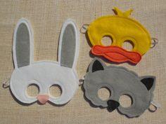 Collection de masque animaux de Pâques par Mahalo sur Etsy