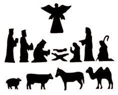 7 Best Images of Printable Christmas Silhouette Patterns - Christmas Nativity Silhouettes, Nativity Scene Silhouette Pattern-Free and Nativity Silhouettes Christmas Nativity Set, Christmas Art, Christmas Projects, All Things Christmas, Holiday Crafts, Christmas Holidays, Christmas Decorations, Christmas Ornaments, Christmas Bells
