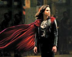 Awesome Lana (Regina) #Once #BTS wearing an awesome red cape and black leather outfit possibly filming awesome eps Once S3 S4 #Steveston Village #Richmond Vancouver BC