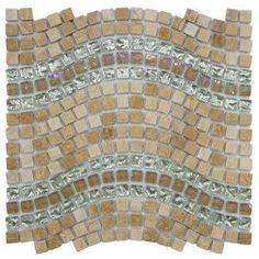 Tessera Wave Venus 11-3/4 in. x 12-1/4 in. x 8 mm Glass and Stone Mosaic Wall Tile