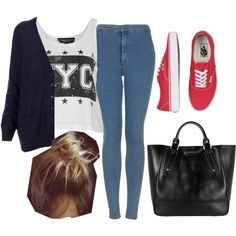 """""""Perrie inspired outfit with red vans"""" by littlemix-style on Polyvore"""