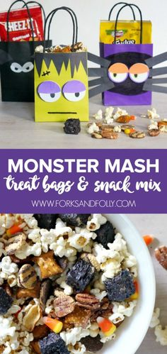 Your little monsters will love this snack mix. No tricks, just treats!