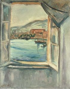 'Window On The Port Of Toulon' by Emile Othon Friesz (1879-1949, France)