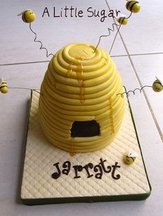 Bumble Bee Birthday Party Ideas: bee hive cake