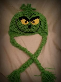 The Grinch Inspired Crochet Hats Adult by MommyisCrafty on Etsy, $28.00
