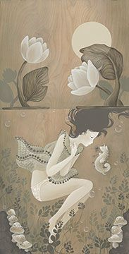"""""""Seapony of the Moonlight Pond"""" © Amy Sol I have this on wood, from a gallery Illustrations, Illustration Art, Amy Sol, Audrey Kawasaki, Artist Art, Artist Life, Digital Collage, American Artists, Art Boards"""