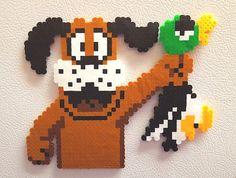 Duck Hunt Dog, Super Mario Bros, Duck Hunt, perler bead art, 8 bit pixel, handmade dog, unique retro gift for gamers, fridge magnet, NES